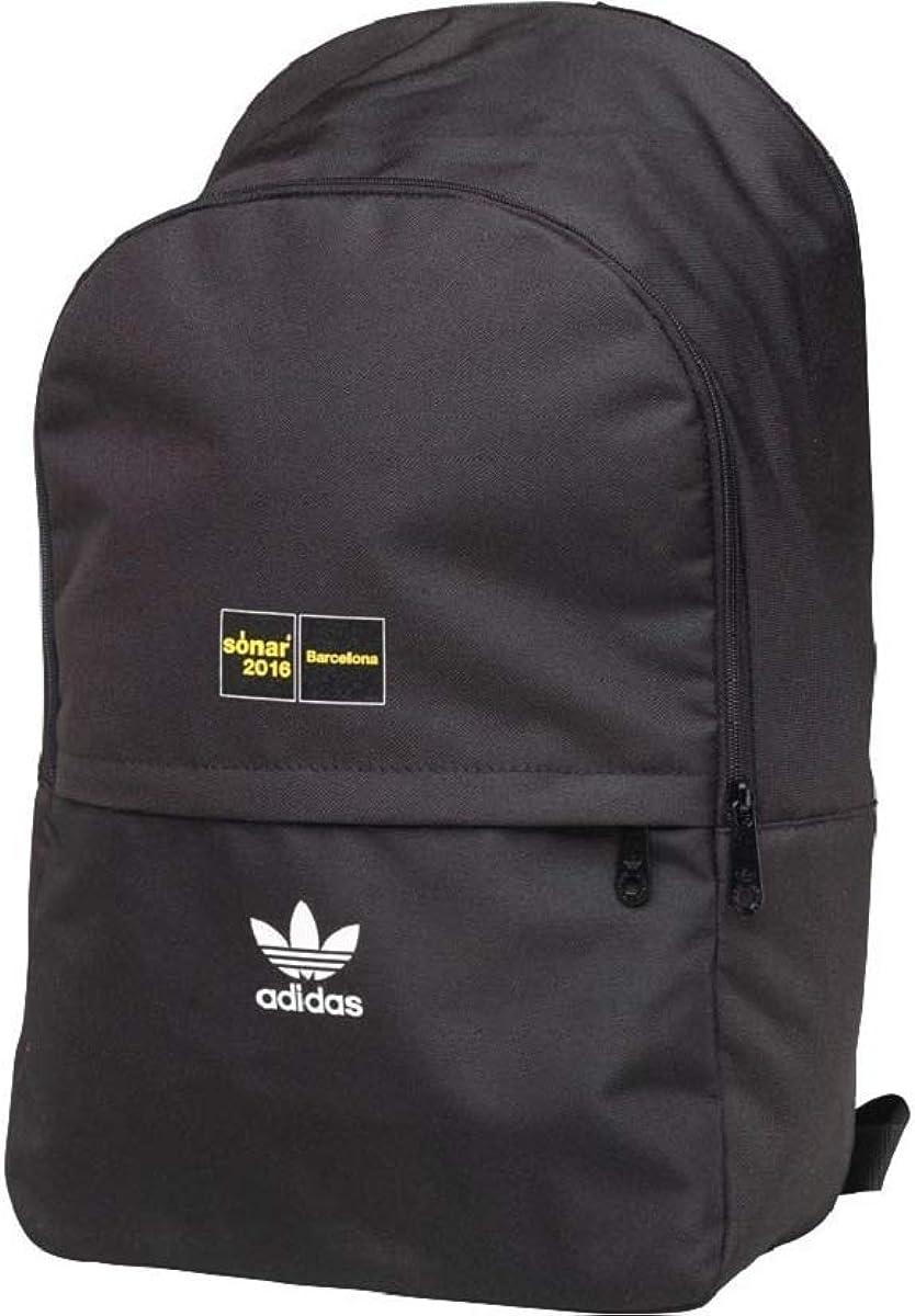 prototipo Monetario vestido  Adidas Originals Men's Sonar Barcelona Backpack Rucksack Bag - Black -  BP7155: Amazon.co.uk: Clothing