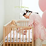 BROLEX-Stretchy-Fitted-Crib-Sheets-Set-2-Pack-Portable-Crib-Mattress-Topper-for-Baby-Girls-BoysUltra-Soft-JerseyFull-StandardPink-White-Arrow