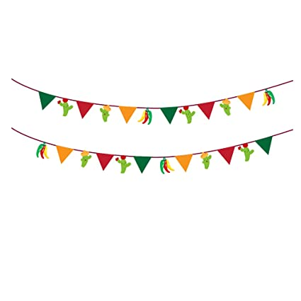 Amazon.com: CC Home, 2 banderines de colores para fiesta de ...