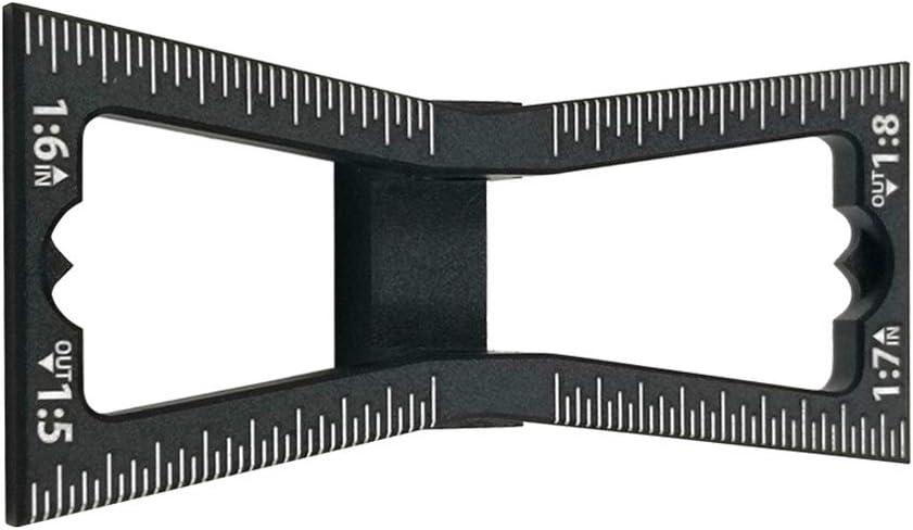 Noir gabarit de queue daronde taille 1:5-1:6 et 1:7-1:8 pour travaux du bois coupe /à la main pour joints en bois outil de guide avec /échelle Asdomo Marqueur /à queue daronde