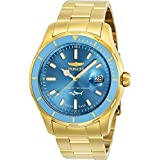 Invicta Men's Pro Diver Quartz Watch with Stainless-Steel Strap, Gold, 22 (Model: 25813)