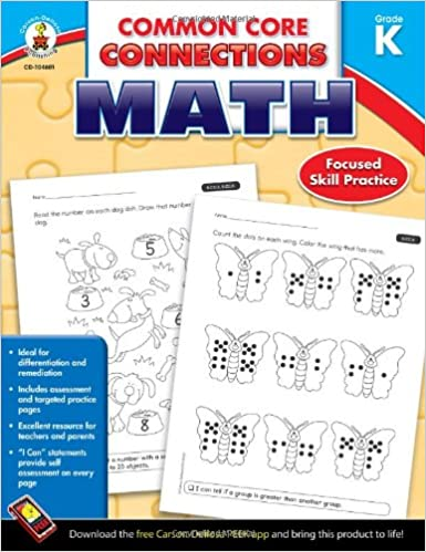 Workbook free phonics worksheets : Common Core Connections Math, Grade K: Carson-Dellosa Publishing ...