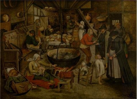 [Oil Painting 'Pieter Brueghel II,Visit To The Peasants,1564-1636', 24 x 33 inch / 61 x 84 cm , on High Definition HD canvas prints is for Gifts And Bath Room, Bed Room And Home Theater Decoration,] (Goth Ann Teen Costumes)