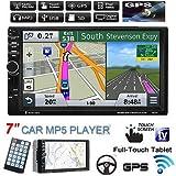 "FidgetFidget Car in-Dash GPS Stereo MP3 MP5 Player Bluetooth Touch 7"" HD 2 Din USB/SD/FM/TV"