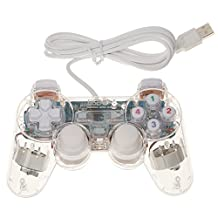White USB 2.0 Vibration Gamepad Game Controller Joypad Joystick for Computer Laptop Pack of 1