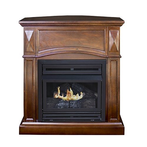 vent free gas fireplace corner - 3
