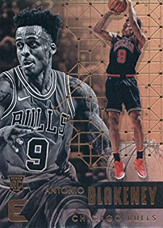 2017-18 Panini Essentials  143 Antonio Blakeney Chicago Bulls Rookie RC Card  NBA Basketball 07f202f58