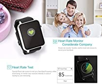 Kikos N90 NFC Bluetooth Smartwatch with Camera SIM compatible with iOS Android for iPhone, Samsung Smartphones (Black)