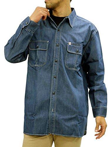 ミシンできる救出[エドウィン] 大きいサイズ メンズ シャツ デニム