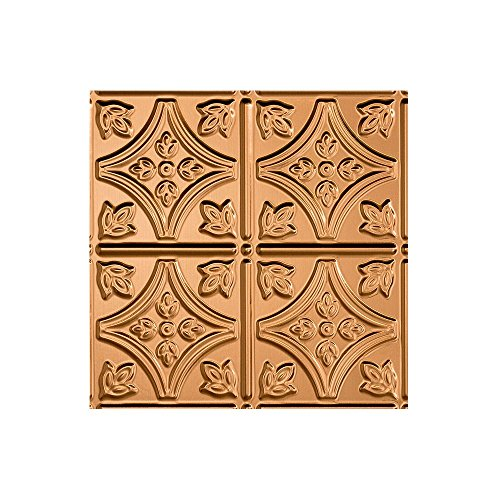 Fasade - Traditional 1 Polished Copper Lay In Ceiling Tile / Ceiling Panel - Fast and Easy Installation (12