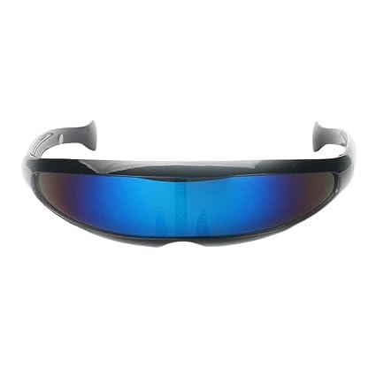 B Blesiya Gafas de Sol Futurista Adornos Diseño Único ...
