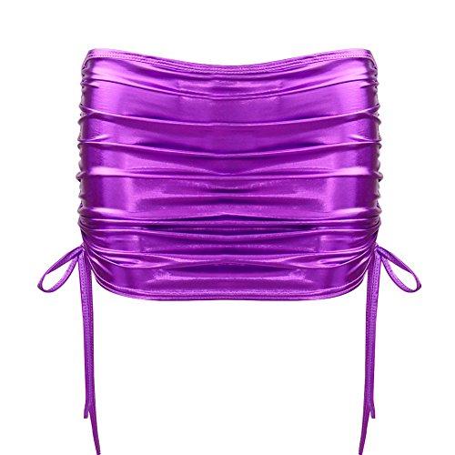 Mini Soire Taille Violet Sexy Crayon Zip Mini Noir Clubwear Robe Femme Bodycon Jupe Couleurs Courte Cuir CHICTRY Haute Faux Jupe Moulante Wetlook 10 qaEXw4f