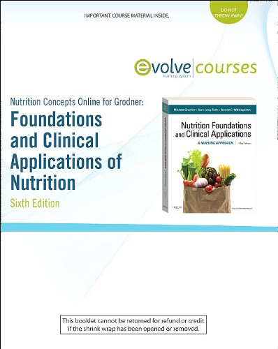 Nutrition Concepts Online for Grodner: Foundations and Clinical Applications of Nutrition (Access Code): A Nursing Appro