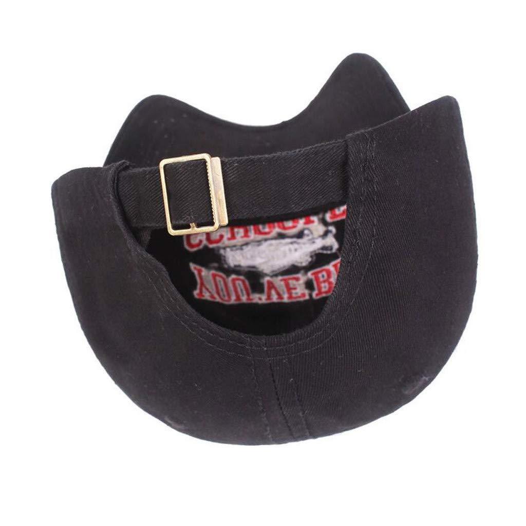 FBGood Unisex Vintage Embroidered Baseball Caps Adjustable Duck Tongue Cap Sun Hat