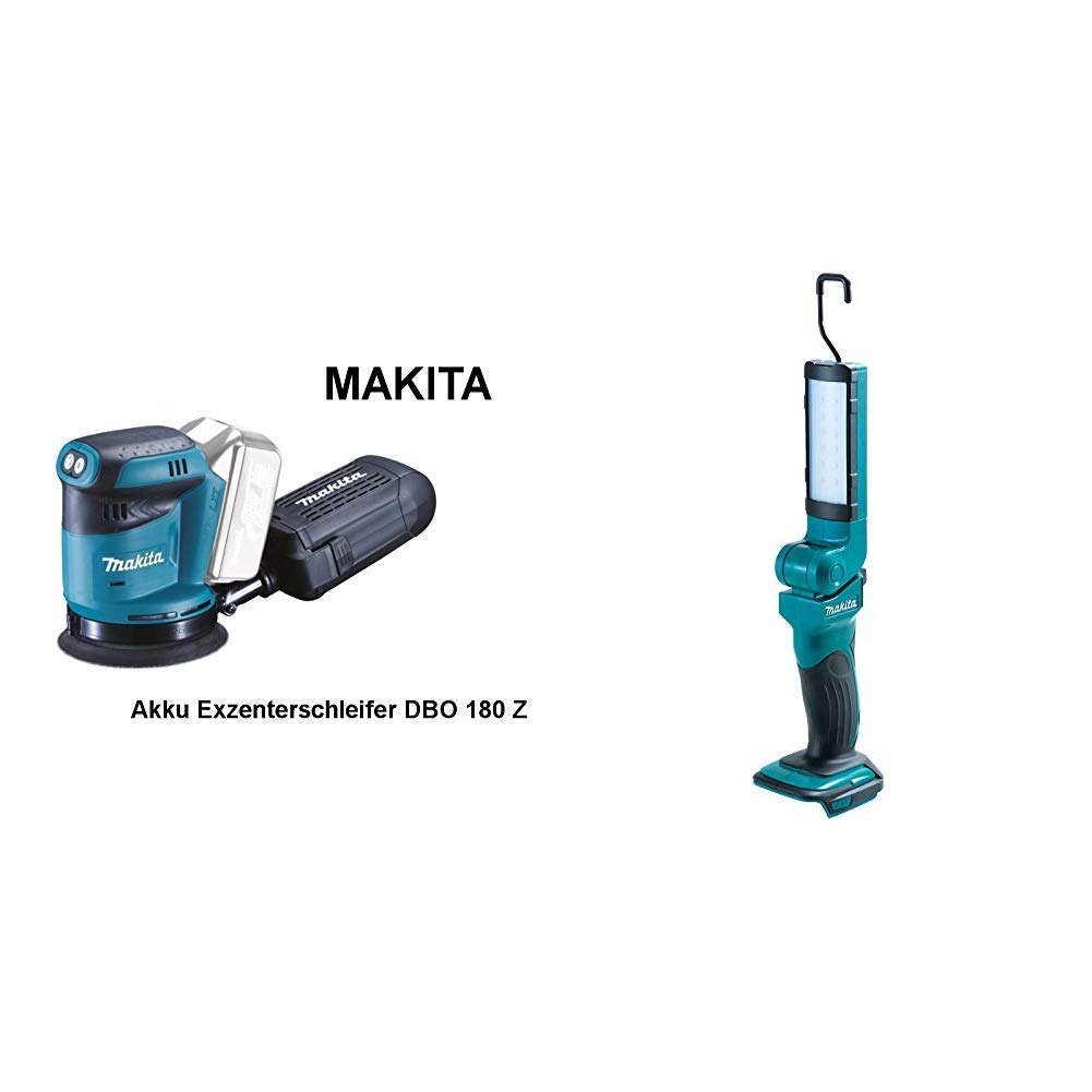 16 x 450 mm Makita DBO180Z Akku-Exzenterschleifer Makita Makpac Gr/ö/ße 2 821550-0