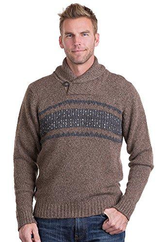 Trevor Peruvian Alpaca Wool Sweater, TAUPE/GREY, Size SMALL (36-38)