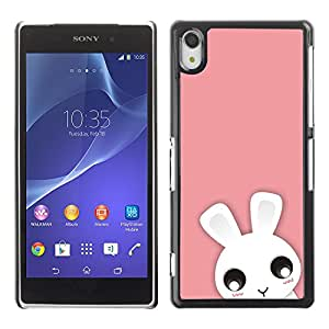 Paccase / SLIM PC / Aliminium Casa Carcasa Funda Case Cover - Cute Pink Animal - Sony Xperia Z2 D6502 D6503 D6543 L50t L50u