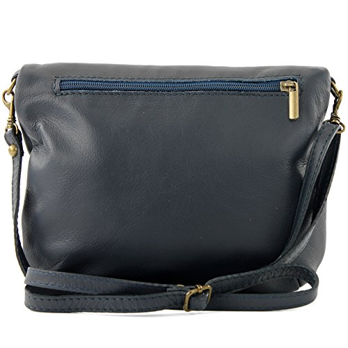 Ital Shoulder Leather Blue Small Bag Underarm Bag nappa Bag Girl T07 Clutch Shoulder Dark leather Bag rr0wU
