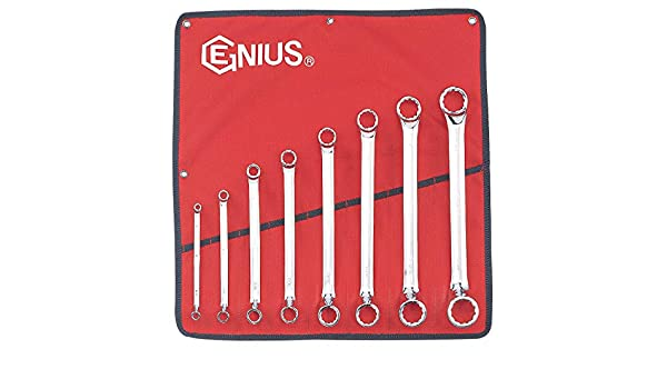 Genius Tools 751214 3//8 x 7//16 Double Offset Ring Wrench