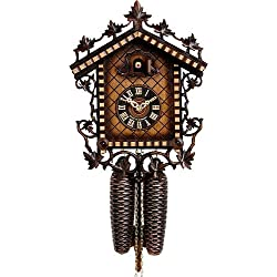 German Cuckoo Clock 8-day-movement Chalet-Style 13.00 inch - Authentic black forest cuckoo clock by Hönes