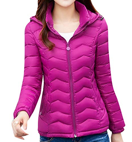 Thick Coat Casual Windbreaker Zip 1 Padded Women Up Slim Howme x80t5Owqt