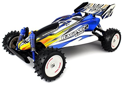 Velocity Toys VT Raging Fire Turbo Remote Control RC Buggy Huge 1:8 Size Scale Off Road 18 MPH RTR, High Performance, 4 Wheel Suspension (Colors May Vary) (1 Parts Aluminum 18 Traxxas)