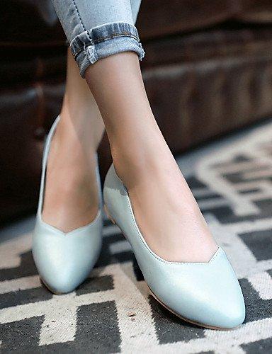 mujeres Toe cn35 us5 blanco Casual zapatos plano 5 señaló eu36 pink de PDX Flats 5 las azul talón uk3 rosa pfgwq