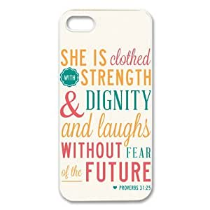 diycover iPhone 4s 4s Case - Christian Theme - Bible Verse Proverbs 31:24s - Durable and lightweight Cover Case
