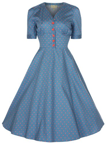 Lindy Bop 'Ionia' Vintage 1950's Rockabilly Pinup Flared Tea/Shirt Dress