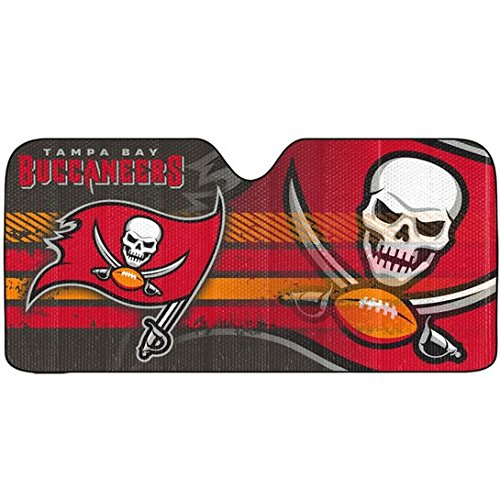 1pc NFL Tampa Bay Buccaneers Red Reflective Aluminum Sun Shade New Universal U.A.A Inc.