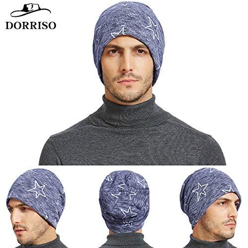 Gorros de Mujer Viaje DORRISO Gorro Punto Punto Compras Vacaciones Azul C Cómodo Hombre Algodón Respirable Gorro 7qpUgwPqx