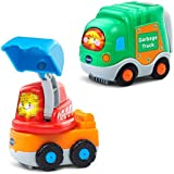 VTech Go! Go! Smart Wheels - 2-pack with Garbage Truck and Excavator