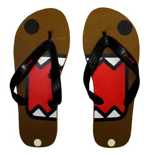 - Domo Kun Face Japan Cartoon Flip Flops Sandals M