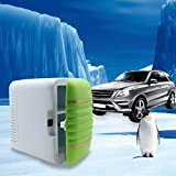 Samber 4L 12V Mini Car Refrigerator Cooler Warmer Thermoelectric Home Outdoor Portable Dual-Use Picnic Travel Fresh refrigerator (Green)