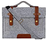 MOSISO Felt Laptop Shoulder Bag Compatible 13-13.3 inch MacBook Pro, MacBook Air, Notebook Computer, Gray