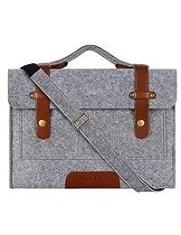 Mosiso Felt Laptop Shoulder Bag for 11-11.6 Inch MacBook Air, Ultrabook Netbook Tablet, Gray
