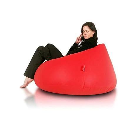 JUSTyou Relax Puff Cojín Gigante de Piel ecológica Color ...