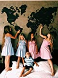 Fathers Day Gift Cork Wood World Map Large Travel map Wall Rustic Home decor Office Dorm Living room Interior design - By Enjoy The Wood