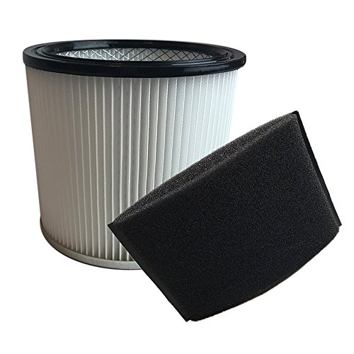 Think Crucial Replacements for Shop Vac Filter Cartridge and Foam Filter Sleeve Fits 5 Gallon & Up Wet & Dry Vacs