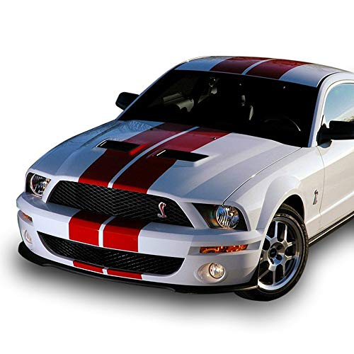 Bubbles Designs 1x Full Stripe Kit Decal Sticker Graphic Compatible with Ford Mustang GT 2005-2014 ()