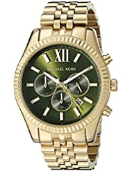 Michael Kors Mens Lexington Gold-Tone Watch MK8446