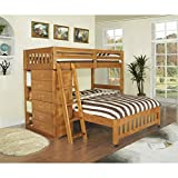 Product review for American Furniture Classics Honey-stained Pinewood Twin-over-full Loft Bed With Six-drawer Chest, Matching Desk Hutch, and Chair