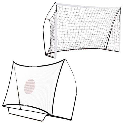 クイックプレイ ポータブル サッカーゴール 2.4m×1.5m & コンボセット 組み立て式ゴール 8KSR B01FIIV3OA