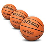 GoSports 5' Mini Basketball 3 Pack with Premium Pump - Perfect for Mini Hoops