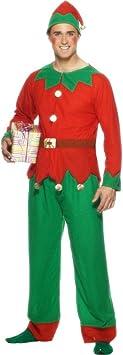 Disfraz de elfo para hombre traje duende Navidad: Amazon.es ...