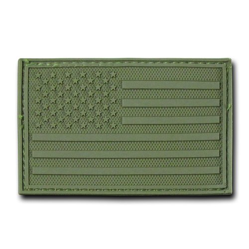 (RAPDOM Tactical USA Flag Rubber Patch, Olive, 3 x 2-Inch)