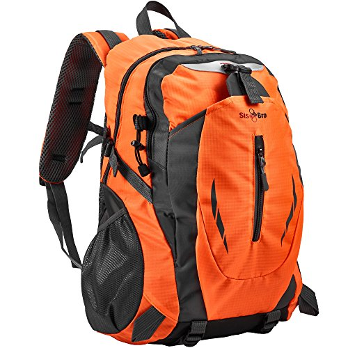 Sis Bro Hiking Backpack   Lightweight  Durable  Water Resistant Polyester Backpack For Camping  Climbing  Hiking  Fishing  Traveling  Cycling  Weekend Trips  Walking   City Use