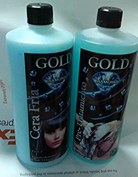 Amazon.com: Queratina Gold Diamond, Cera Fría 1 Litro (Shampoo and Queratina): Beauty