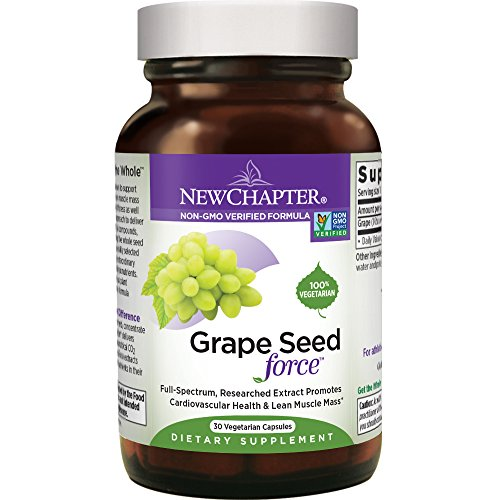 New Chapter Grape Seed Force with Grape Seed Extract for Cardio Support + Non-GMO Ingredients + 30 ct Vegetarian - Capsule 30ct