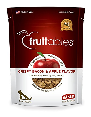 1 Ounce Apple - Fruitables Crispy Bacon and Apple Crunchy Dog Treats, 1-7-Ounce Pouch